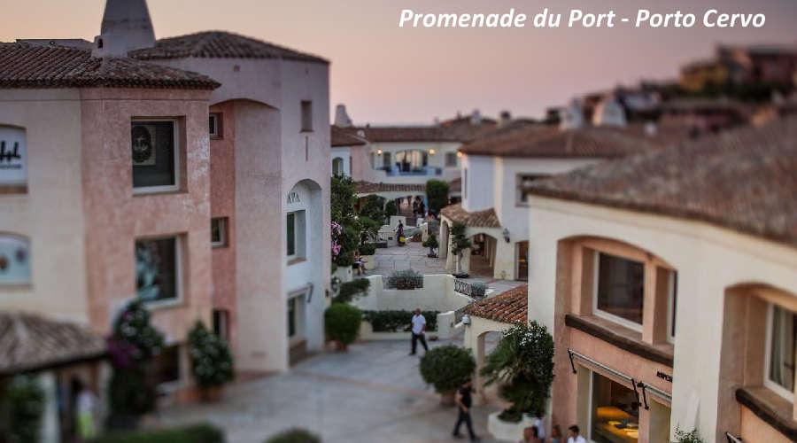 Shopping in Costa Smeralda Promenade du port Porto Cervo