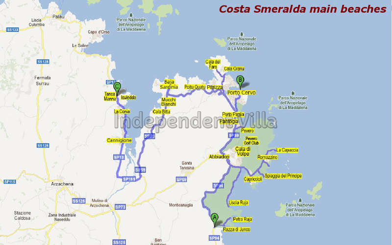 30 Map of beaches