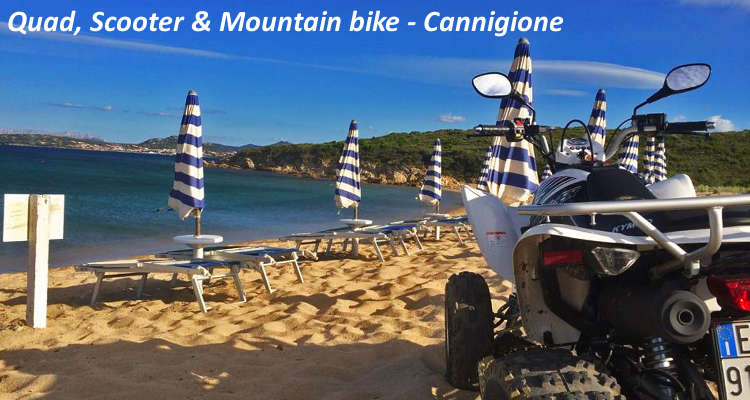 Sport costa smeralda quad scooter & mountain bike