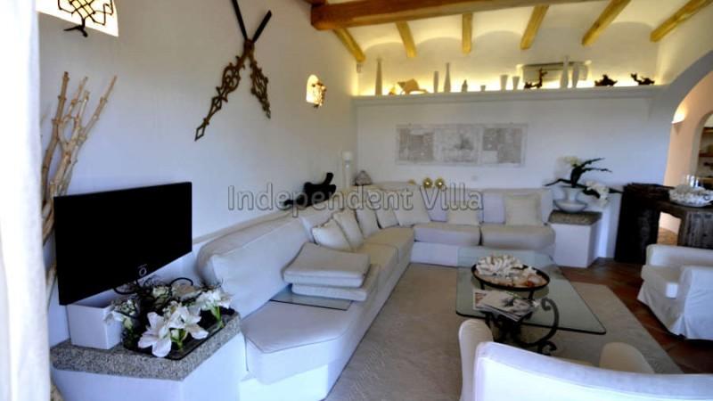 34 Le ville del Pevero Lux small villa sitting room