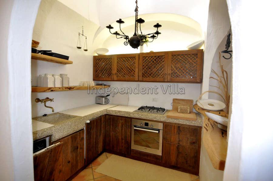 38 Le ville del Pevero Lux small villa kitchen